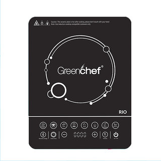 Greenchef RIO Induction Cooktop 2000 W  (Black, Touch Panel)