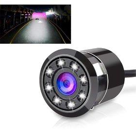 Auto Fetch 8LED Night Vision Car Reverse Parking Camera (Black) for Chevrolet Tavera