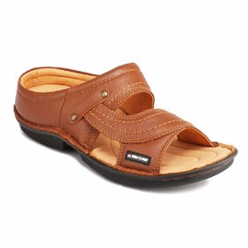 Red Chief Men's Tan Casual Leather Slipper