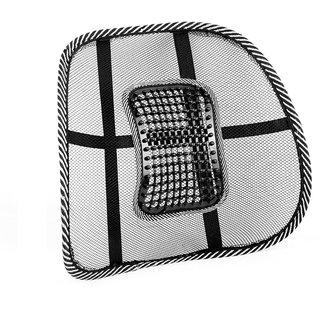 Auto Fetch Car Backrest Cushion Car Seat Lumber Support (Black) for Honda Amaze
