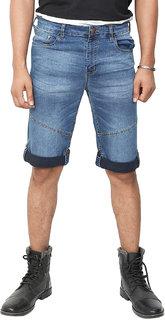 MagMatric5 Stone Blue Demin Roll-Up Shorts DA-7001