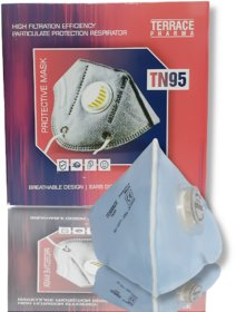 TN95 High Filtration Efficiency Particulate Protraction Respiration Mask with Air filter (1 Pce)