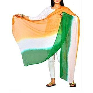 Sanchya Chiffon Tri-Colour Tiranga Dupatta Independence - Republic Day Special