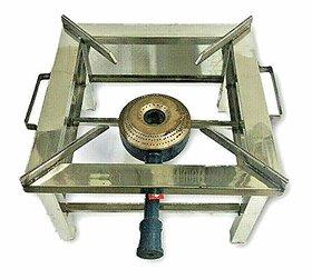 Xetomos Steel Single Jumbo Burner Commercial HIGH Flame Gas Stove COOKTOP LPG Propane