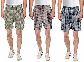 Men Check Multicolor Boxers Shorts (Pack of 3)
