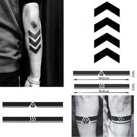 Ordershock Liam Payne Arrow with Viking Armband Combo Waterproof Temporary Body Tattoo 425+4B