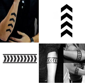 Ordershock Liam Payne Arrow Full Round Hand Band with Arrow Combo Waterproof Temporary Body Tattoo HB7+425