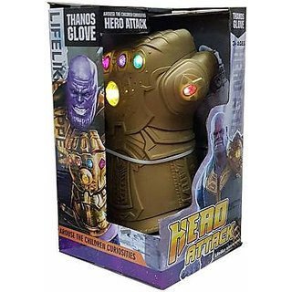 Avengers Thanos Infinity Gauntlet hand glove with light  (Gold)