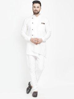 RYLEN Cut Kurta Churidar Pajama Set White