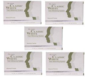 Classic White Skin Whitening Soap / Pack of 5 - ( 5  x 85 gm   425 grams)