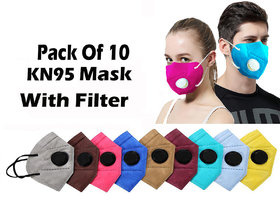 Silver Shine Kn95 Anti Pollution Mask Face Mask With 5 Layer Protection Pa