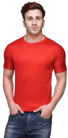Funky Guys Red Round Neck Slim Fit Tshirt