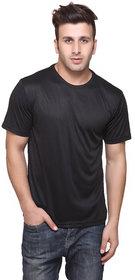 Ketex Black Round Neck Dri-Fit Tshirt