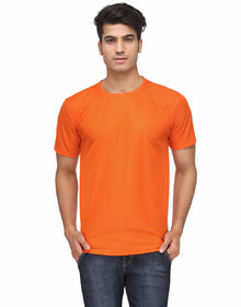 Ketex Men's Orange Round Neck T-Shirts