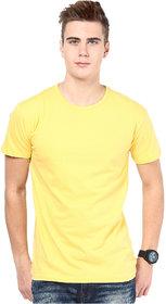 Ketex Men's Yellow Round Neck T-Shirts