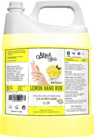 Mirah Belle - Lemon Hand Rub Sanitizer Gel Can  (With Vitamin E) - 5000 ML (72.9 Alcohol) - FDA Approved