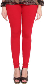 Orion Apparel Cotton Lycra Churidar Stretchable Leggings Red Color L Size