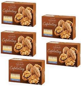 Avon Naturals Exfoliating Walnut Bar Soap 100g Each (Set of 5)