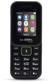 Global G11 keypad Mobile Phone with 2 Sim Card Slot  Memory Card Slot 1.77-inch TFT LCD display with 320 x 240- Black