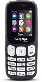 Global G12 keypad Mobile Phone with 2 Sim Card Slot  Memory Card Slot 1.77-inch LCD TFT display with 320 x 240- Black