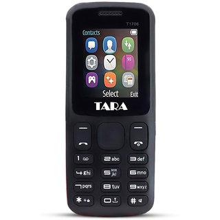 Tara T17 keypad Mobile Phone with 2 Sim Card Slot  Memory Card Slot 1.77-inch TFT LCD display with 320 x 24 - Black