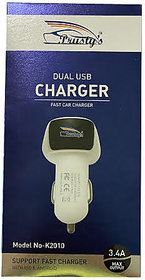 3.4 AMP High Speed Dual Port Car Charger With Type C Cable