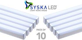 Syska 18 Watts T5 LED Tube Light (Pack of 10, Cool Day Light)
