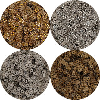 ESHYN Sequins Glitter Effect Shape Round 5mm combo of 4 (450gms  200gms) For Making Embroidery, Art  Craft, Jewellery