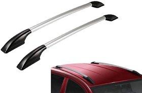 Auto Fetch Car Stylish Drill Free Roof Rails (Silver) for Datsun Go
