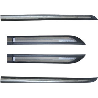 Auto Fetch Car Side Beading Black And Chrome (set of 4) for Skoda Rapid
