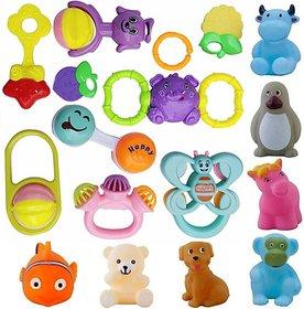 Techhark 16 Pcs Pack Baby Bath Toys For Babies Bath Toy (Multicolor)