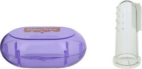 Fisher-Price Silicone Baby Finger-Brush with Case, Purple Soft Toothbrush