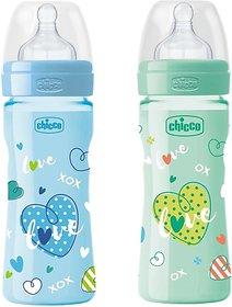 Chicco Feeding Bottle - 250 ml (Blue's Green)