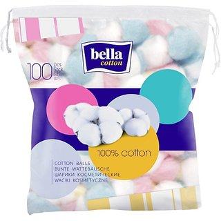 BELLA COTTON COSMETIC BALLS COLOURED (100 Units)