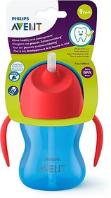Philips Avent Straw Cup 200ml - Red's Blue (Red, Blue)