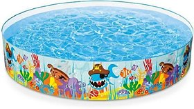dmte 4 Feet Kids Water Pool Bath Tub Swimming Pool Bath Toy (Multicolor)