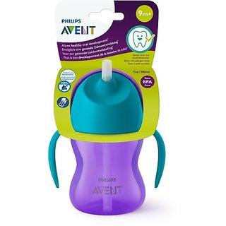 Philips Avent Straw Cup 200ml - Blue's Purple (Blue, Purple)