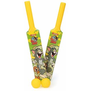 Tom & Jerry Unisex Kids First Set of 2 Bats's Balls Cricket Kit