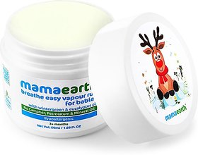 Mamaearth Natural Breathe Easy Vapour Rub Balm, 50g Balm (50 ml)