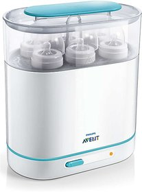 Philips Avent 3-in-1 Electric Steam Sterilizer - 6 Slots (White)