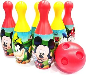 Disney Mickey's Friends 6-Pin and Ball Set for Bowling