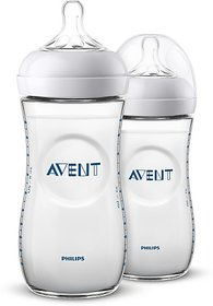 Philips Avent NATURAL 2.0 BOTTLE 330ml Pack of 2 - 660 ml (clear, white)