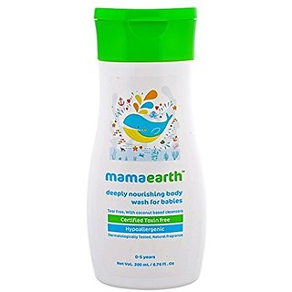 Mamaearth Deeply Nourishing Body Wash for Babies (200 ml)
