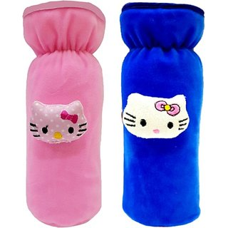 Brandonn CLASSIC BOTTLE COVER FOR BABIES PACK OF 2 (PINK / ROYAL BLUE)