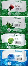 Origami Wet Wipes Assorted Fragrance (100 Wipes)
