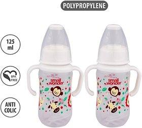 Small Wonder Feeding Bottle 125\xc2\xa0ml\xc2\xa0PP\xc2\xa0CLEAR (White) - 125 ml (White)