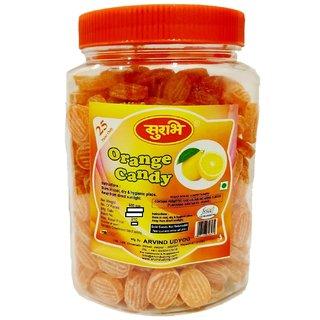 Surbhi Fruity Juicy Orange candy ( wahi bachpan ka swad ) 600 g ( pack of 2 )