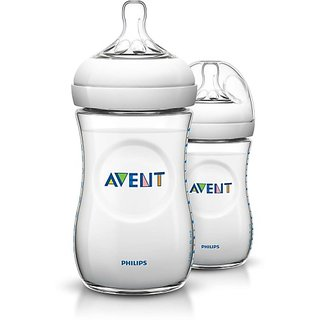 Philips Avent Natural Pack of 2 - 260 ml (White)