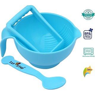 1st Step Food Grinder With Spoon (Blue)