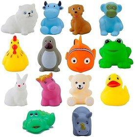 MAGNIFICO Bath Toys Non-Toxic Animal Shape Soft Toys for Baby Kids Bath Toys Chu Chu Bath Toy (Multicolor)